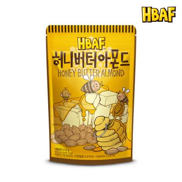[길림양행] 허니버터 아몬드 210g
