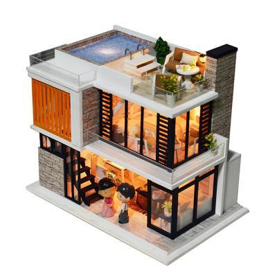 DIY 미니어처하우스 화이트 루프탑 풀빌라