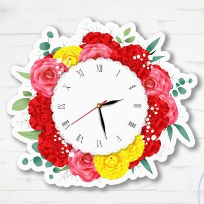 nz145-인테리어벽시계_아름다운꽃들의시간