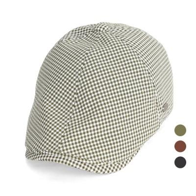 [디꾸보]체크 헌팅캡 똑딱이 조절 모자 JAN357