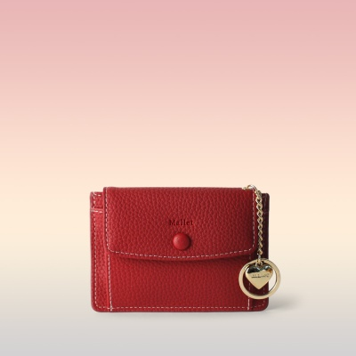 [이니셜 커스텀] Big pocket point wallet _ Red