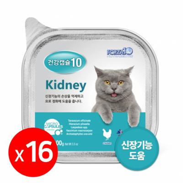 포르자 건강캡슐10 kidney 고양이주식캔 1box 16개