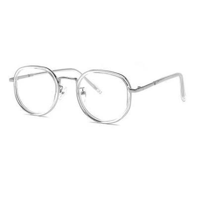 shine 각진 얇은 뿔테 투명 안경 뿔테 패션안경