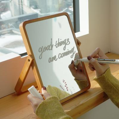 레터링 원목 화이트 탁상 거울 3type 원하는 문구가능