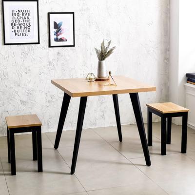 블랙 인더밴 900 철제 식탁 테이블