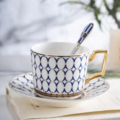 유럽풍 클래식 골드라인 커피잔 세트
