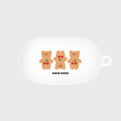 Three cherry big bear-white(buds jelly case)