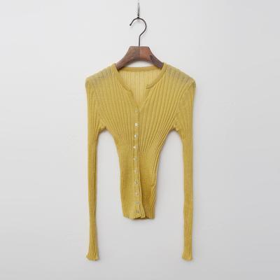 Linen Golgi Crop Cardigan