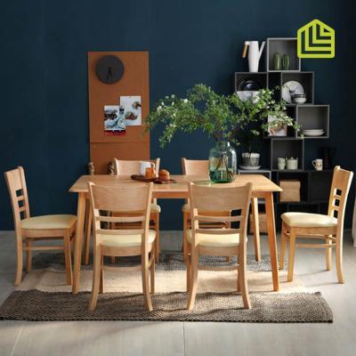 [리비니아]캔버 캘빈 6인 원목식탁세트(의자형)