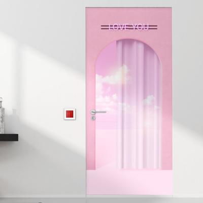 pb468-핑크빛바다로가는문_현관문시트지