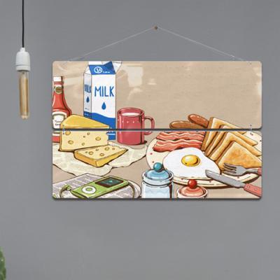 nl857-멀티아크릴액자_맛있는음식일러스트3(2단대형)