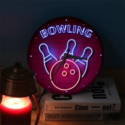 ng535-LED시계액자25R_생활스포츠볼링
