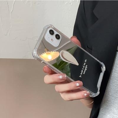 아이폰 케이스 12 11 프로 맥스 미니 X 8 미러 레터링