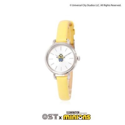 [미니언즈XOST] 옐로우 여성용 가죽시계 OTW120703ASY