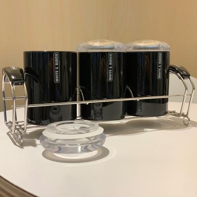 모던 시크 양념통 조미료통 세트 정리대 3p 설탕통