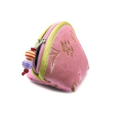 실크 자수 부채꼴 지갑(소)