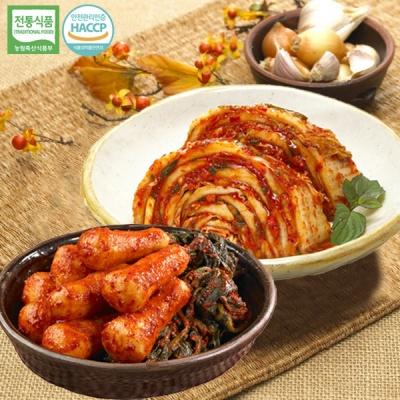[명가김치] 100% 국내산 맛김치 3kg+총각김치 1kg