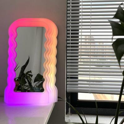 에토레 물결 디자인 탁상거울 지디거울 (커스텀제작)