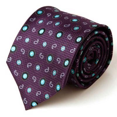 Hombre purple Paisley 패턴 수동 넥타이 CH1623664