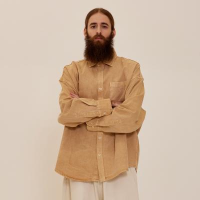 CB 아콘 피그먼트 셔츠자켓 (베이지)