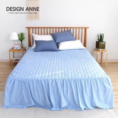 [디자인엔] 알러지케어 모던 침대스커트Q-블루