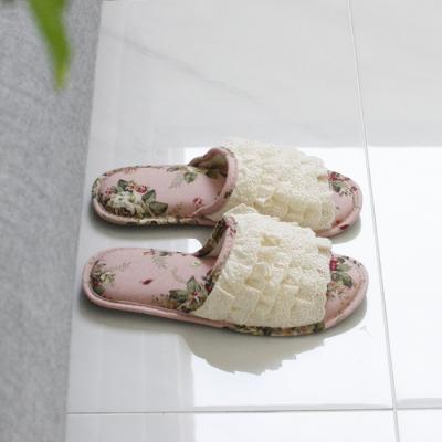 신 캉캉 슬리퍼-핑크장미