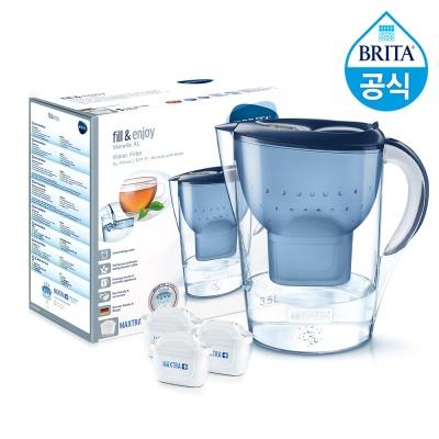 필터형 정수기 브리타 마렐라XL 3.5L 블루+필터3개월분(기본구성 필터포함)