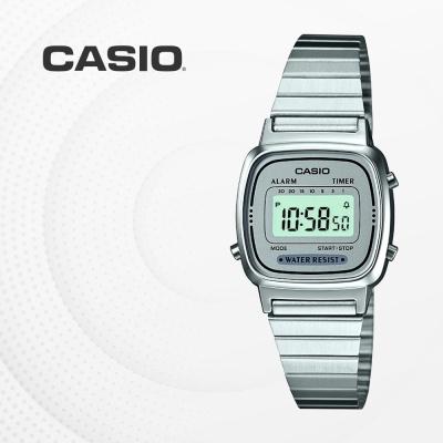 카시오 빈티지 메탈 전자 여성 손목시계 LA670WA-7