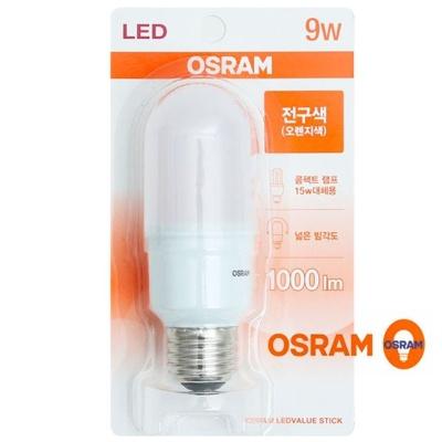 오스람 LED 절전형램프 9W LED램프 (전구색) 9W전구