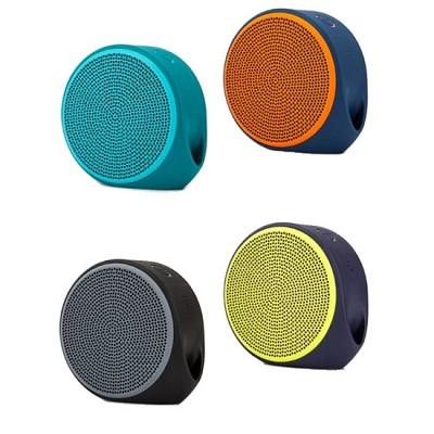 로지텍 휴대용 블루투스4.0 스피커 X100 (통화가능 마이크 내장 / MP3 & 스마트폰 등 외부 입력 3.5mm 오디오잭 / USB충전)