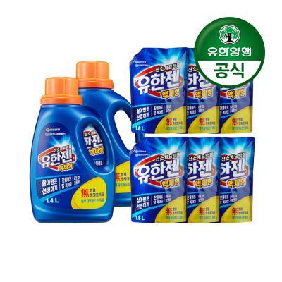 [유한양행]유한젠표백제 용기1.4L 2개+리필1.8L 6개