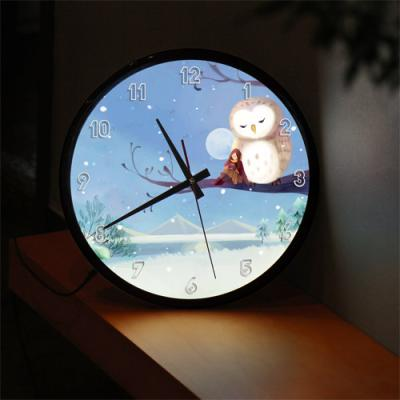 ng201-LED시계액자35R_달빛아래눈내리는겨울밤