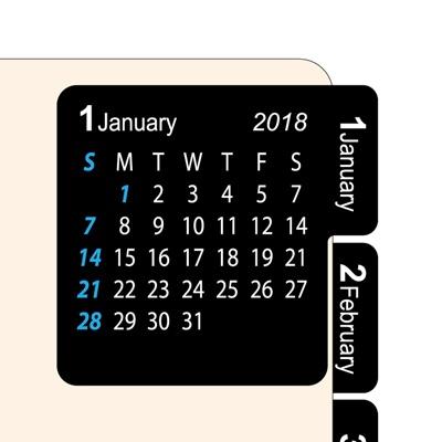 2018 달력스티커 black