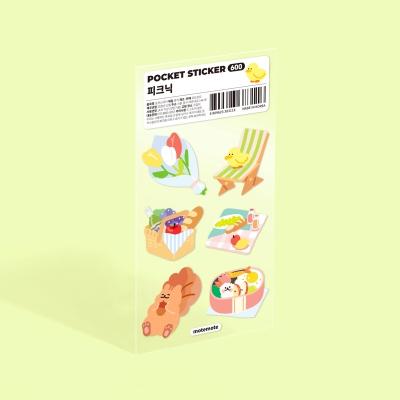 모트모트 포켓 스티커 - 피크닉