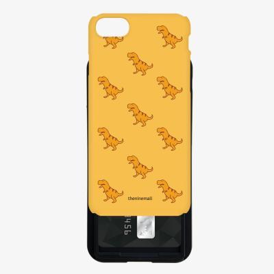 노랑공룡 패턴 카드슬라이드 케이스