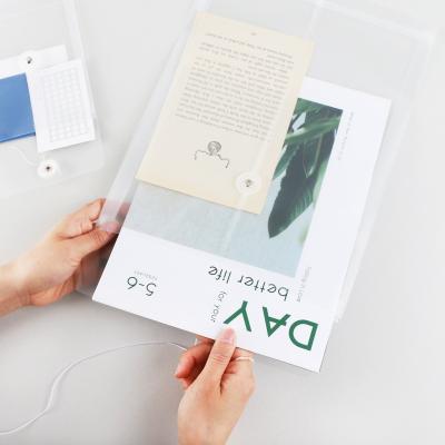 하도메 PVC 파우치 봉투 A6/A4 반투명 파일 케이스