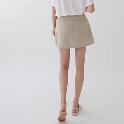 New Cotton Mini Skirt - 치마바지