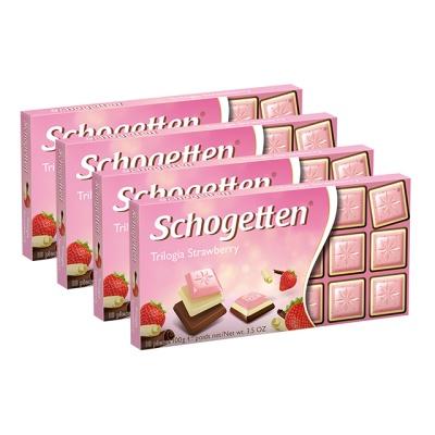 쇼게튼 스트로베리 초콜릿 100g (18pieces) X 4EA