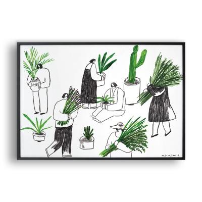 식물 가꾸기 / 일러스트 액자