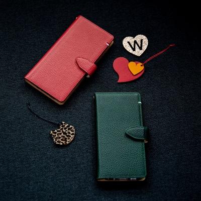 스매스 아이폰11 엠보 스냅 지갑형 케이스 버튼