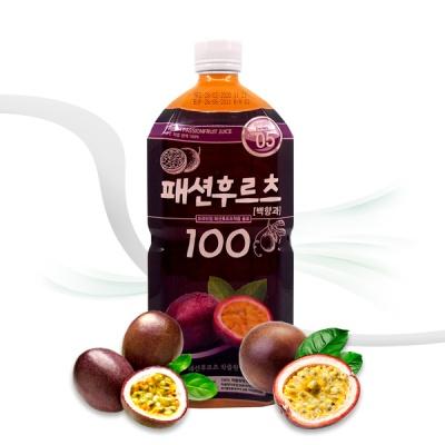 [엠제이] 패션후르츠 100 착즙원액 주스 1000ml