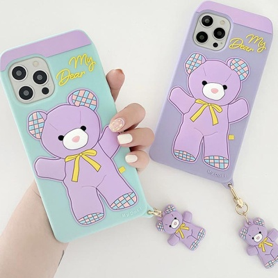 아이폰 12 11 미니 pro max 귀여운 곰돌이 키링케이스