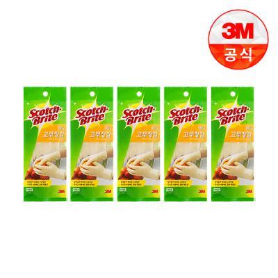 [3M]스카치브라이트 미니 고무장갑 화이트 5개
