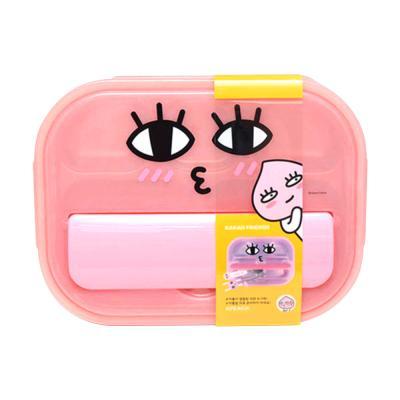 카카오 올인원 가방 수저통 식판세트 (어피치)