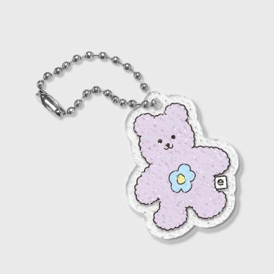 Blossom bear friends-purple(글리터키링)