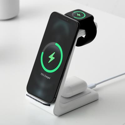 크리스탈클라우드 3in1 애플워치 갤럭시워치 충전기