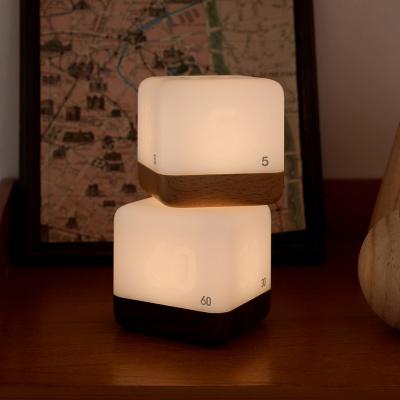 [무아스] 충전식 LED 큐브 타이머 무드등 수유등
