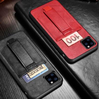 아이폰11/pro/프로맥스/카드수납 가죽형 스트랩케이스