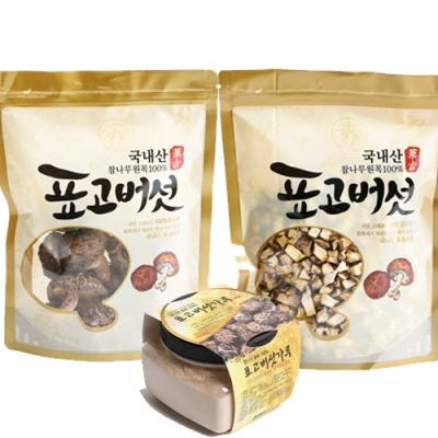 [참나무] 햇살담은 표고버섯 3종(원형,깍둑썰기,분말)