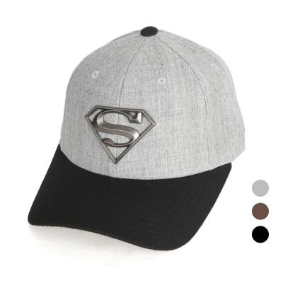 [디꾸보]슈퍼맨 고주파 흑실버 레터 볼캡 모자 AC709